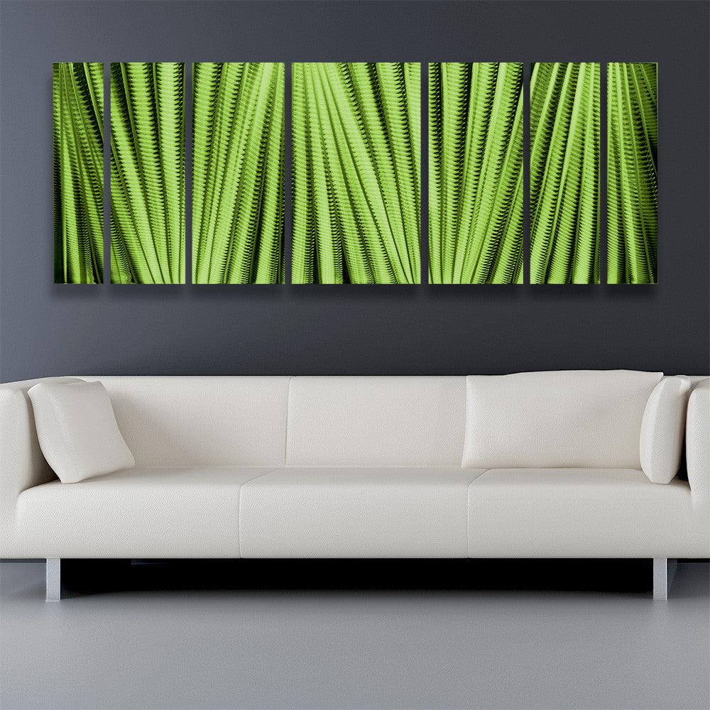 Main Attraction  Green Contemporary Metal Wall Art 68 x24  Aluminum Indoor / Outdoor & Main Attraction