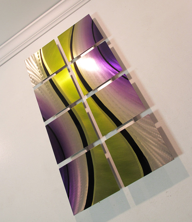 ... Left Angle Modern Metal Wall Art
