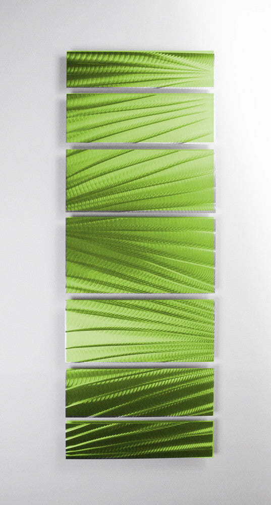 """Lime Green Wall Decor main attraction"""" 66""""x24"""" large green indoor / outdoor modern"""