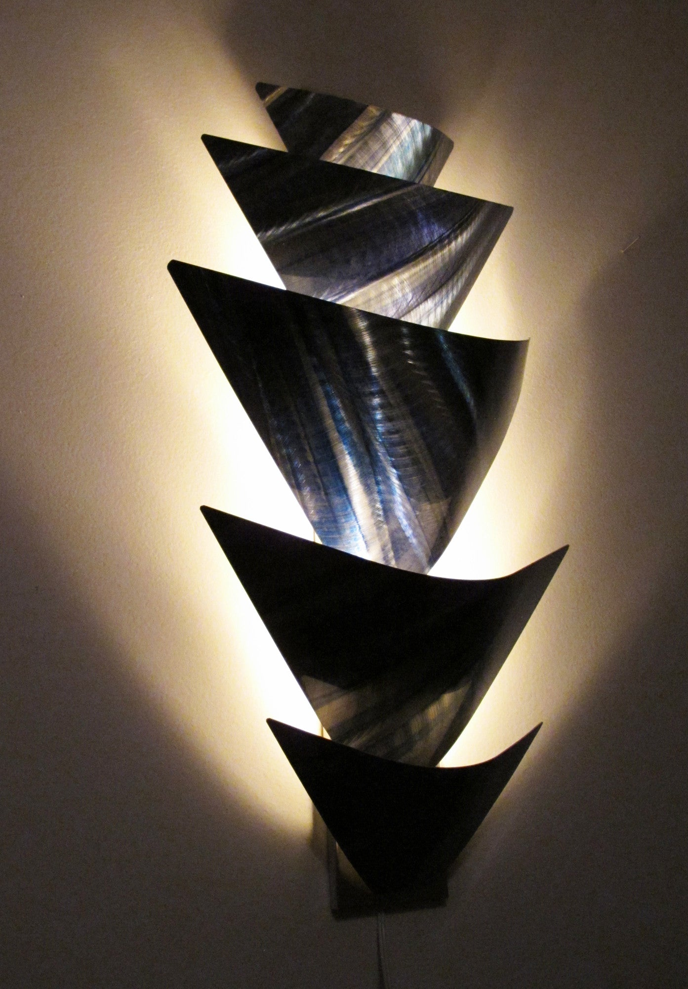 Quot Aurora Torchiere Series Quot 40 Quot X24 Quot Modern Abstract Metal