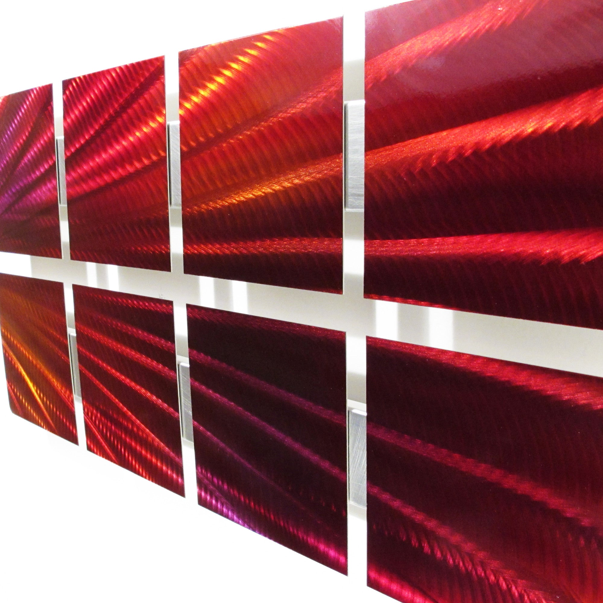 "Red Metal Wall Art blue starlight"" 26""x14"" modern abstract metal wall art sculpture"