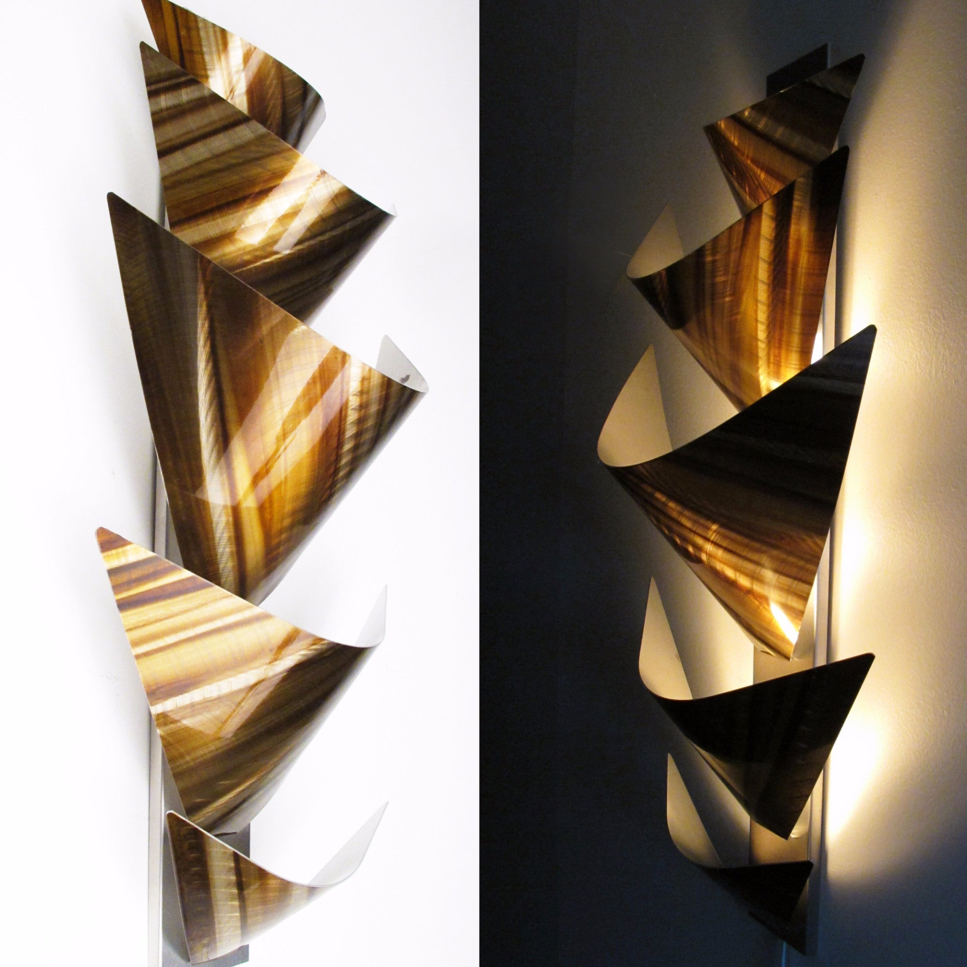 aurora torchiere series x modern abstract metal wall art