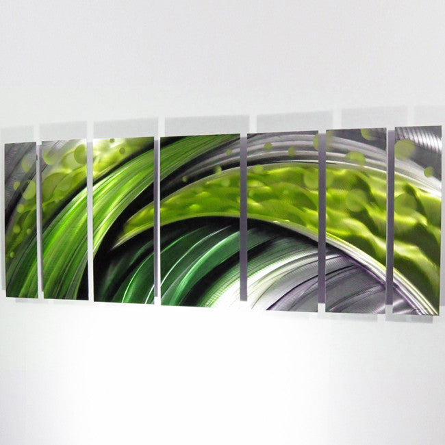 Quot Green Flash Quot Large Modern Abstract Metal Wall Art