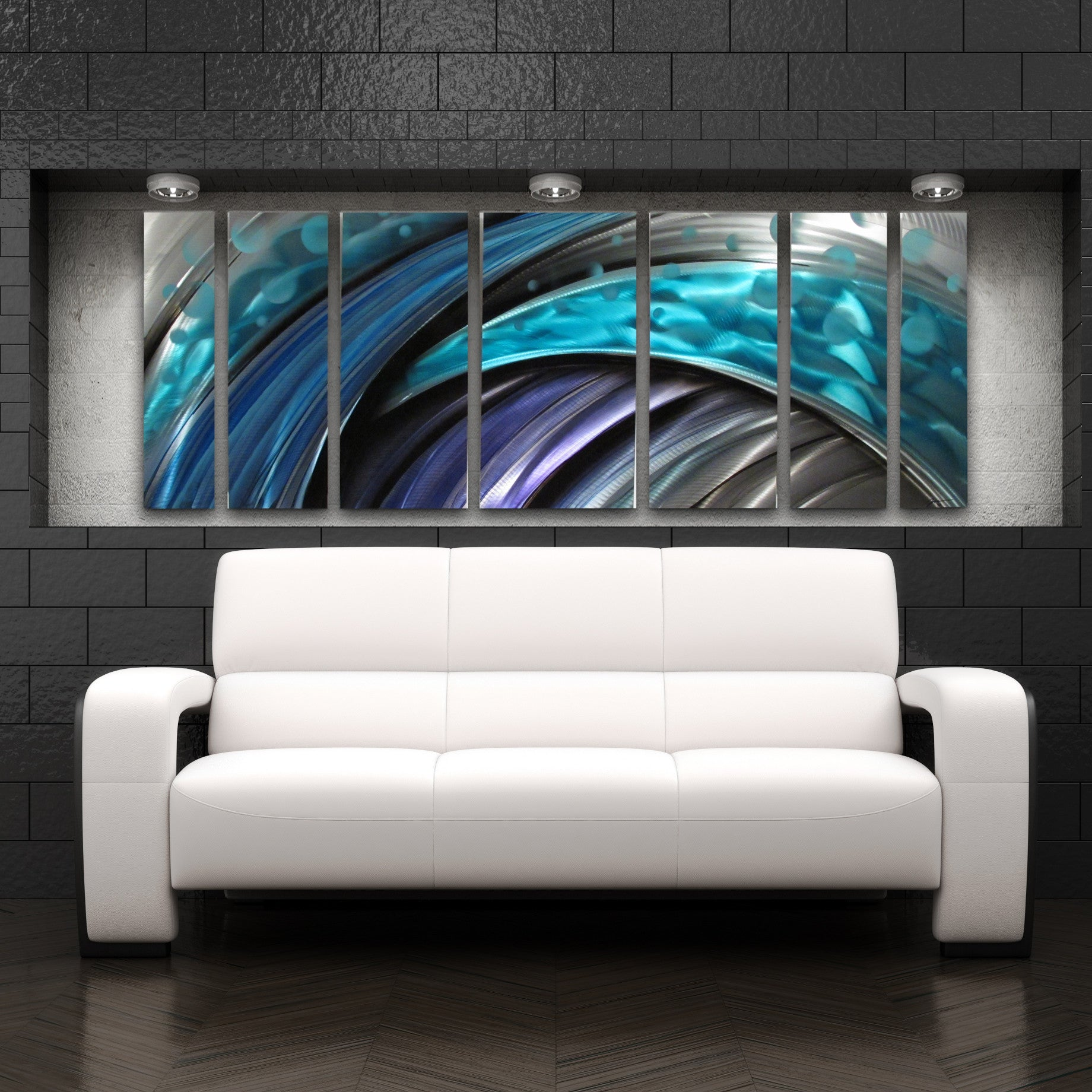 Typhoon large modern abstract metal wall art sculpture for Contemporary wall mural
