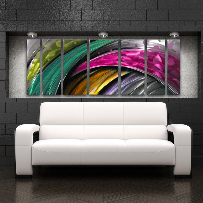 """Adrenaline"" Large Modern Abstract Metal Wall Art"