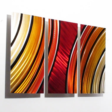 Wall Art Red metal wall art - red - dv8 studio