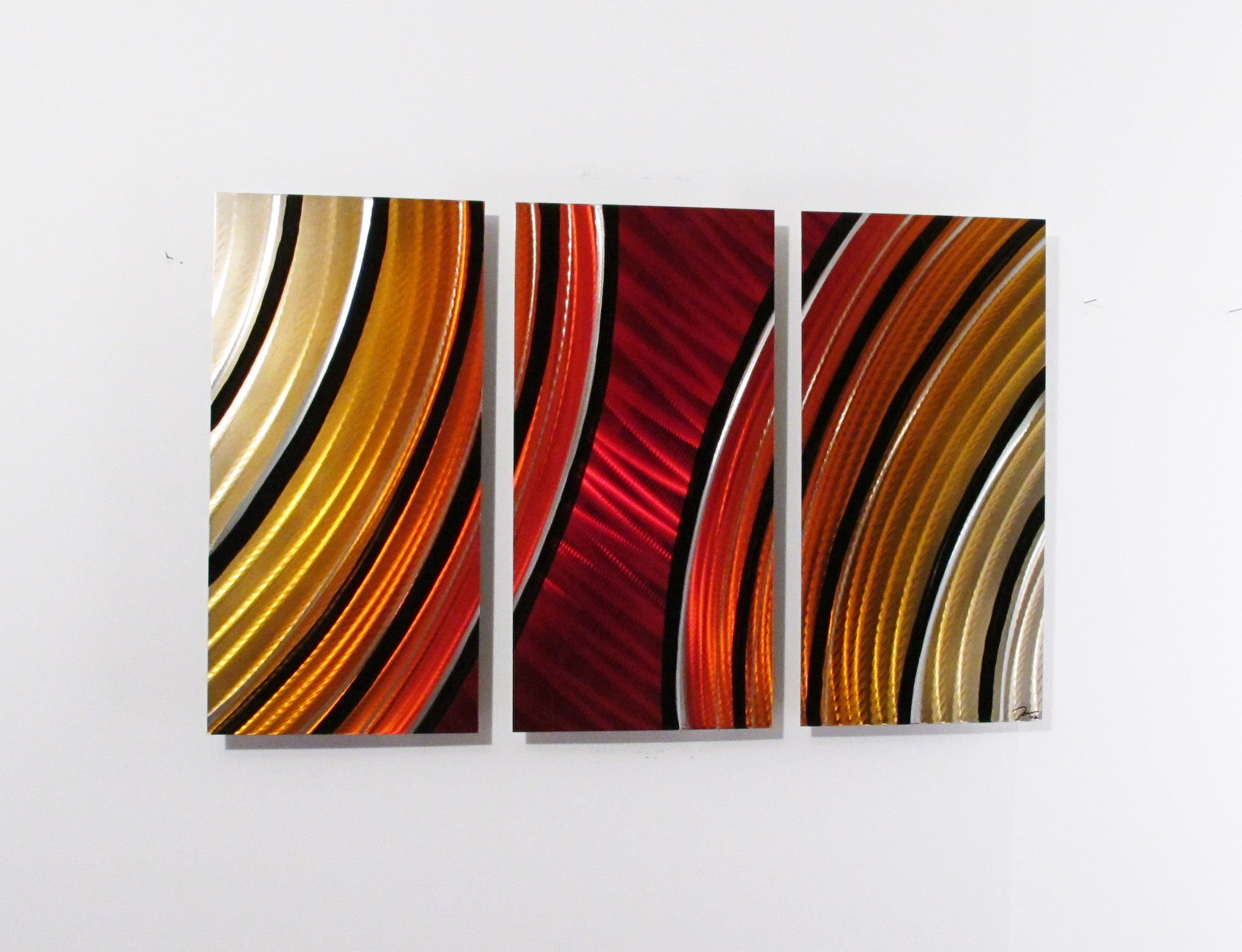 metal wall art  red  dv studio - ap starburst x red  orange aluminum modern abstract metal wallart sculpture