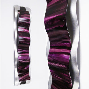 Purple Wall Decor  Rhythmic Curves  Wall Sculpture & Metal Wall Art - Purple - DV8 Studio