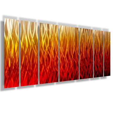 Inferno  68 x24  Large Modern Abstract Metal Wall Art Sculpture Flame Red  sc 1 st  DV8 Studio & Metal Wall Art - Red - DV8 Studio