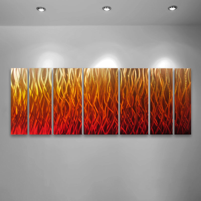 Wall Art Red abstract metal wall art - handcrafted artworkbrian m. jones