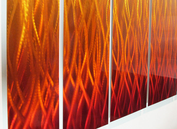 inferno large modern abstract metal wall art sculpture flame red orange uk ebay