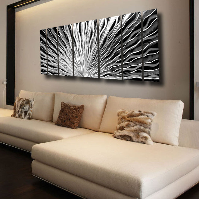 Silver Wall Art Vibration By Brian Jones Dv8 Studio