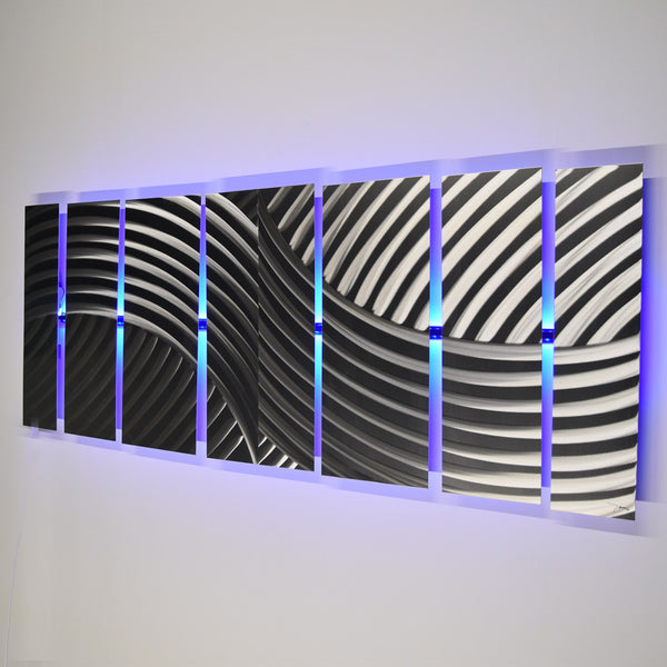 Quot Cascade Quot 68 Quot X24 Quot Large Modern Abstract Metal Wall Art