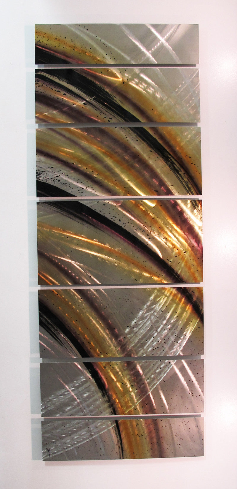 "Metal Sculptures And Art Wall Decor: ""Solar Flare"" 68""x24"" Large Modern Abstract Metal Wall Art"