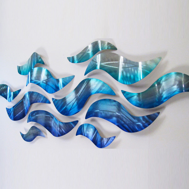 Charming ... Riptide Contemporary Metal Wall Art By DV8 Studio ...