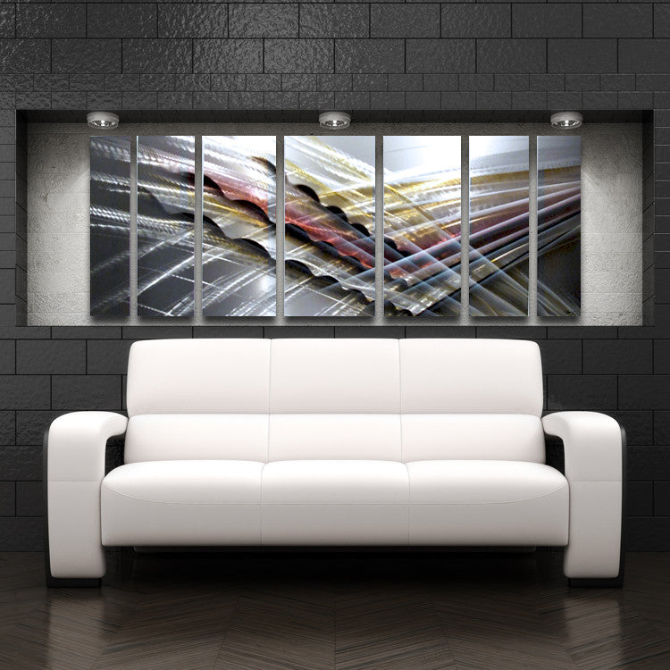Large metal wall art panels contemporary abstract art by for Large panel wall art