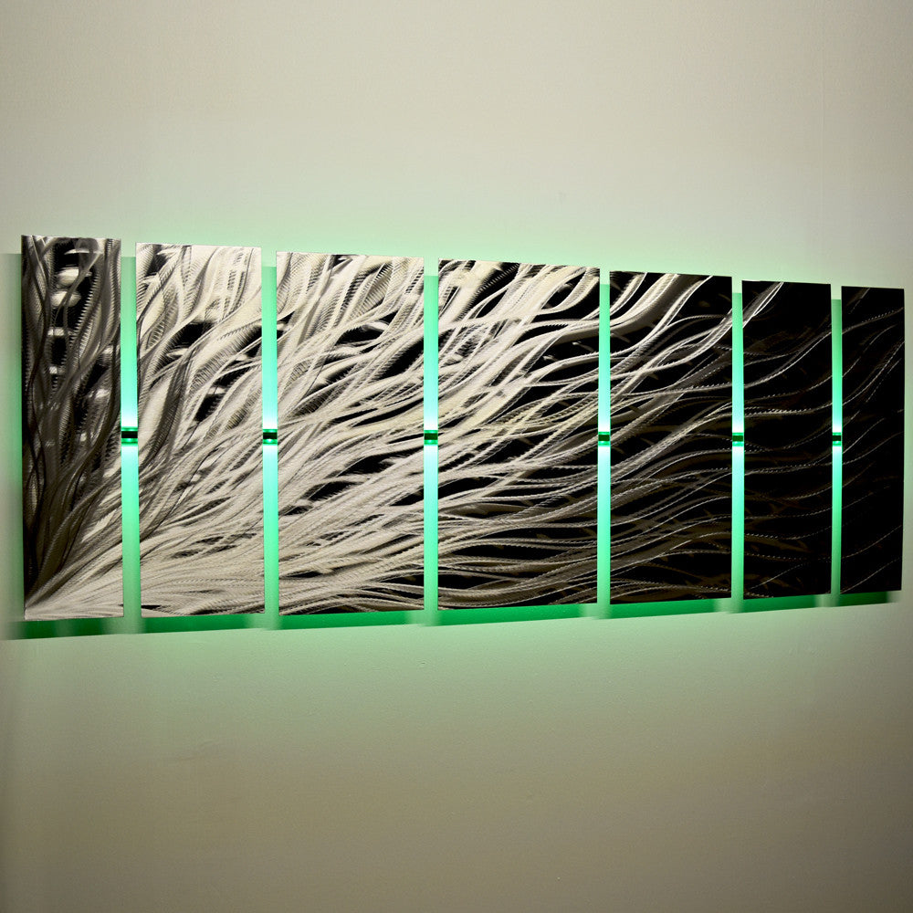 Green Wall Art metal wall art panels | dv8 studio