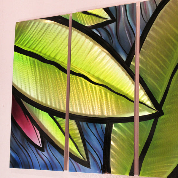Quot Tropical Utopia Quot 66 Quot X24 Quot Large Modern Abstract Metal Wall