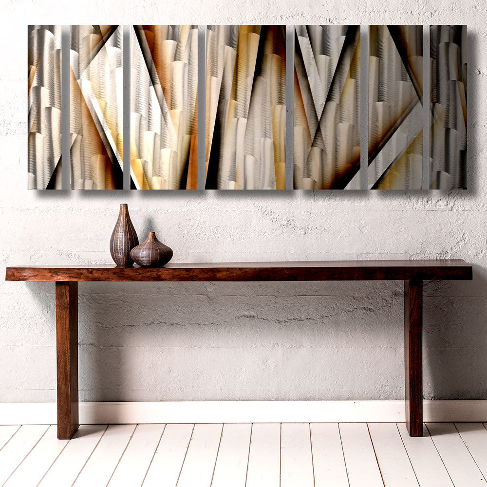 "Small Metal Wall Art aurora torchiere series"" 40""x24"" modern abstract metal wall art"
