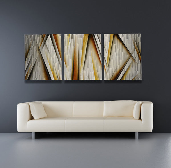 Grand Finale 68 X24 Large Modern Abstract Metal Wall Art Sculpture Painting Dv8 Studio