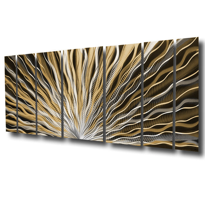 Vibration 66x24 Large Earthtone Brown Modern Abstract Metal