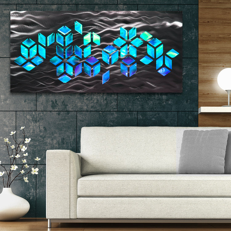 Metal Wall Art With Infused Color Changing Led Lights Dv8 Studio