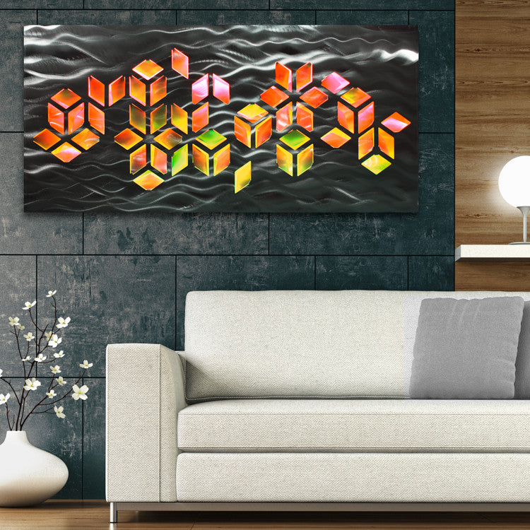 Large Metal Wall Art Panels | Contemporary Abstract Art by