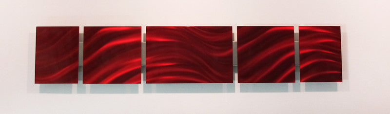 Red Metal Wall Art metal wall art - red - dv8 studio