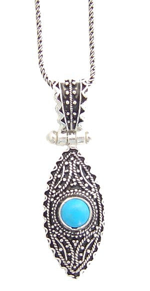 Turquoise Eclipse Silver Pendant II