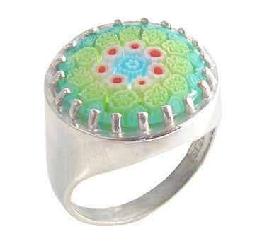Murano Glass Silver Ring IV