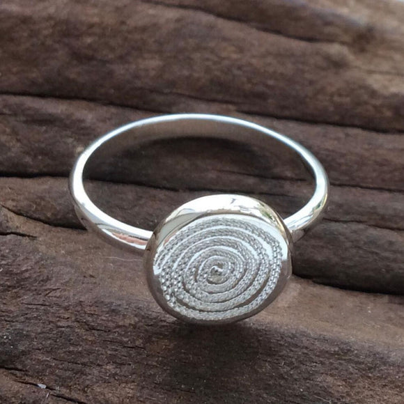 Silver Ring with 10 mm Ndoro