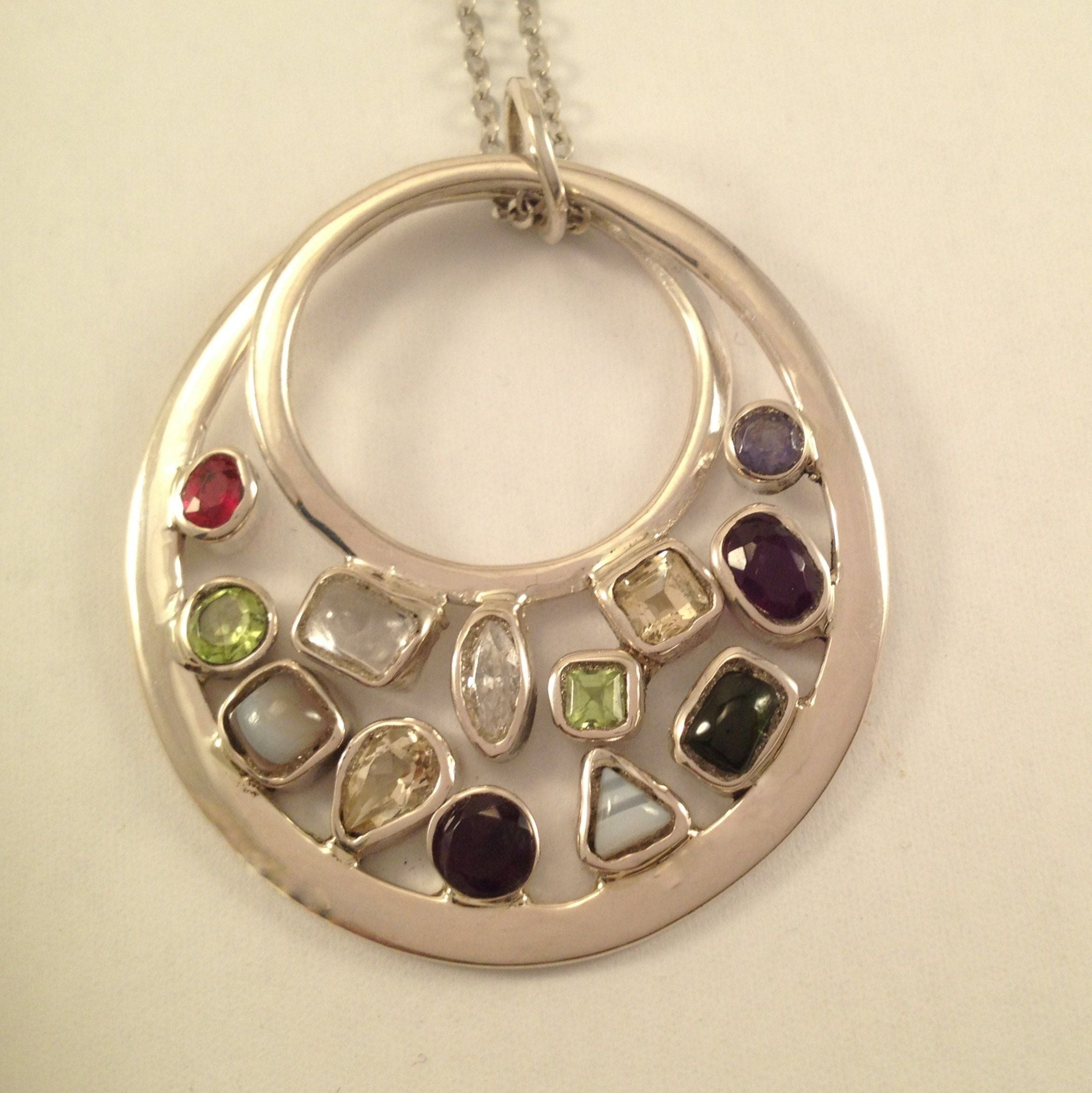 Infinity Family Birthstone Pendant and Chain