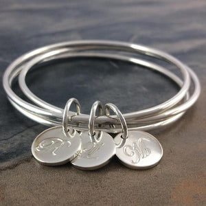 Open image in slideshow, Classic Silver Mom's Bangle
