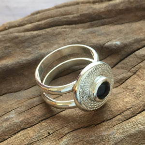 Ndoro-Onyx Double Band Ring