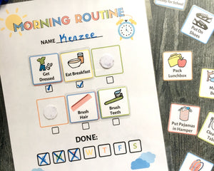 Chore Chart and Routine Charts for Kids - Digital Download