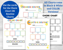 Load image into Gallery viewer, Chore Chart and Routine Charts for Kids - Digital Download