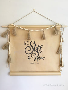 """Be Still and Know"" DIY Sign Template"