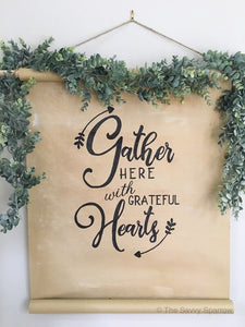 """Gather Here"" DIY Sign Template"