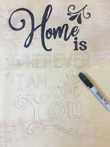 """Home"" DIY Sign Template"
