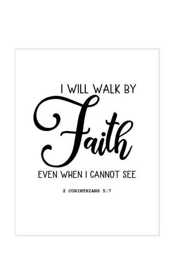 Walk by Faith DIY Sign Template