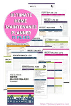 Load image into Gallery viewer, The ULTIMATE Home Maintenance Planner - Instant Download