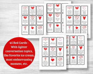 Conversation Cards for Couples - 135 Printable Cards