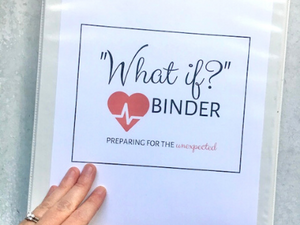 "Emergency ""What If?"" Binder - Instant Download - Fillable PDF"