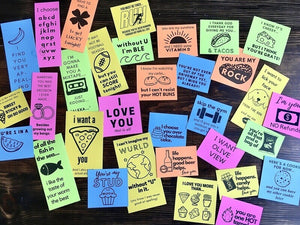 Printable Funny & Flirty Love Notes for Him