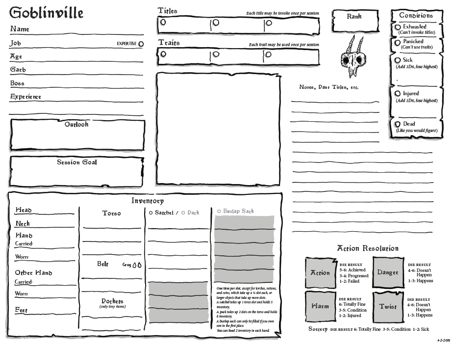 Goblinville Sheets