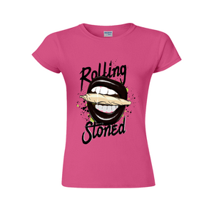 Rolling Stoned Short-Sleeved T-Shirt for Women