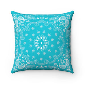 BLUE WEED BANDANA THROW PILLOW