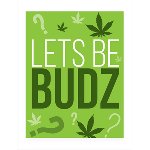 LETS BE BUDZ VALENTINES DAY POSTCARD