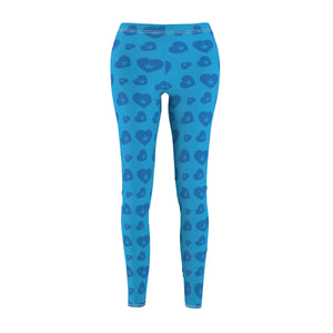 WEED HEART LEGGINGS (BLUE)