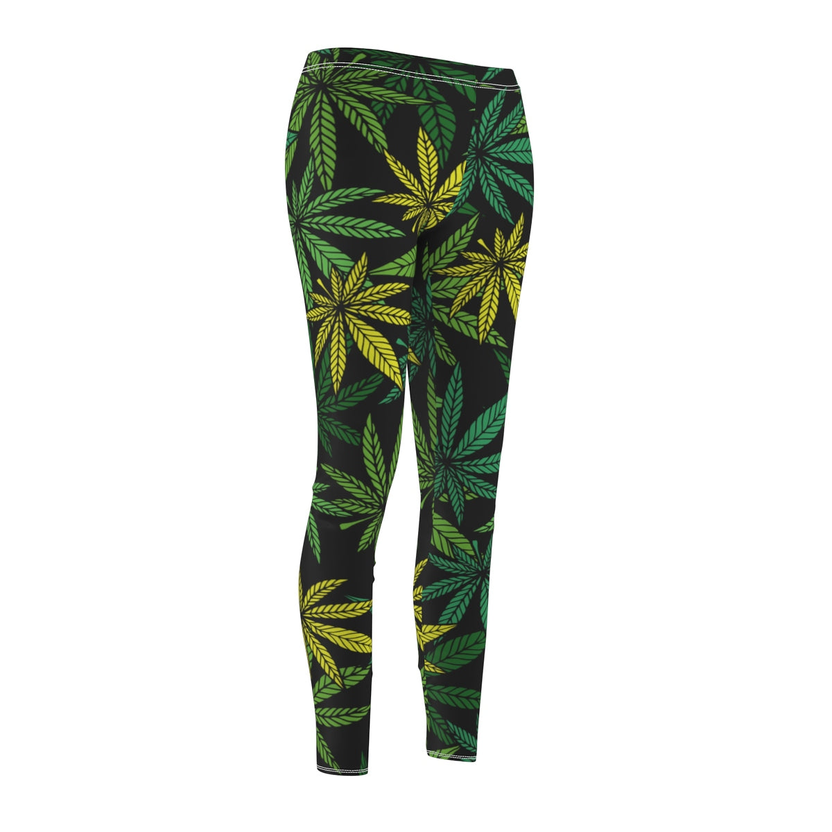 Weed Leaf Pattern Leggings
